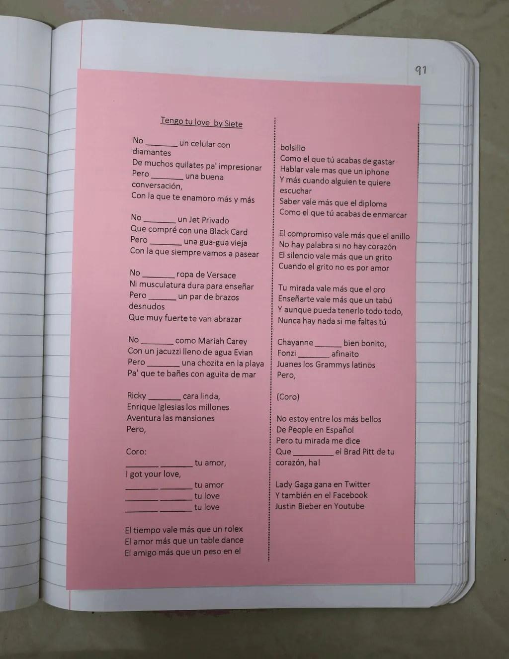Spanish interactive notebooks
