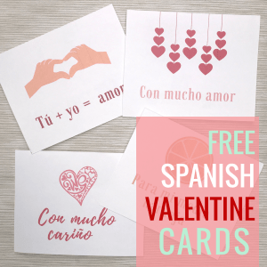 Valentine Cards in Spanish