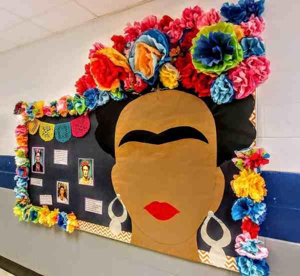 frida kahlo bulletin board hispanic heritage month