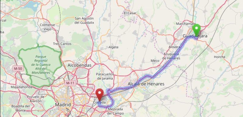 Henares Corridor (OpenStreetMap)