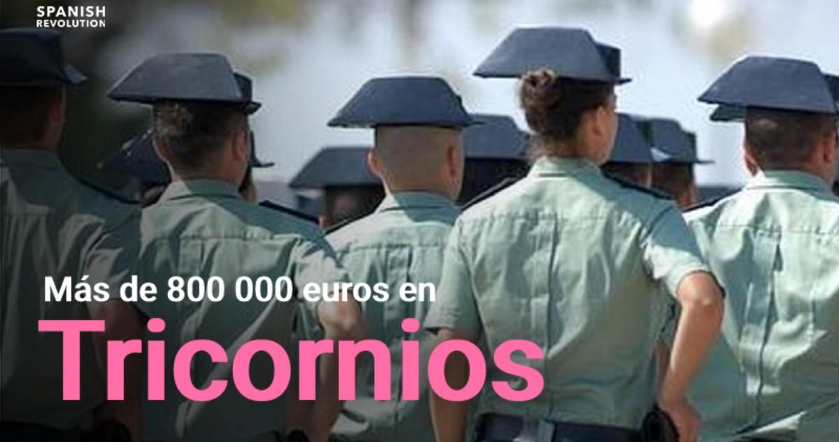 España se gasta 823.000 euros en tricornios para la Guardia Civil