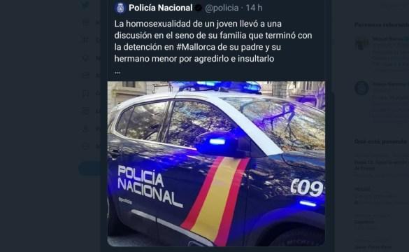 víctima policia