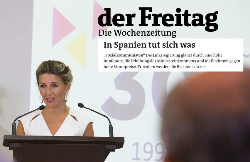 Alemania se hace eco del trabajo «sereno y constructivo» de Díaz y avisa del «coqueteo con los fascistas» de Ayuso