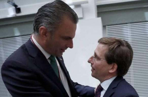 Javier Ortega Smith y José Luis Martínez Almeida