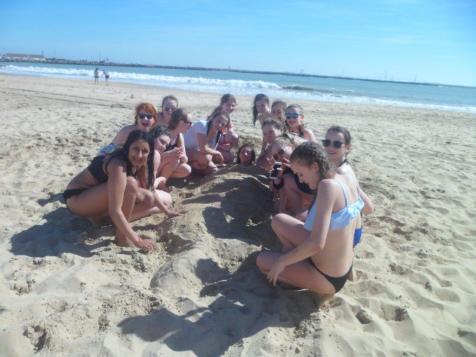 en la playa!