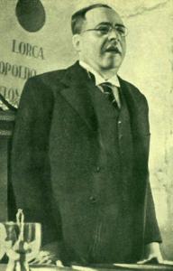 Juan Negrín y López, Minister of Finance, the Republic of Spain