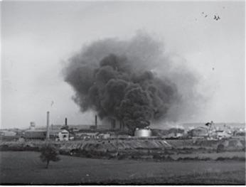 Bombning af Girons olieanlæg