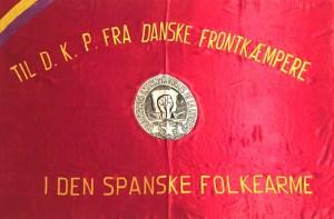 Fanen fra de danske frontkæmpere i den Spanske Borgerkrig