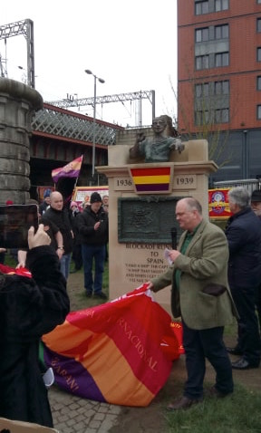 "The unveiling of the monument 'Blockade-Runners to Spain"" – part of a photo reportage of the unveiling of the monument 'Blockade-Runners to Spain' in Glasgow, 2. March 2019"