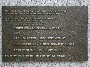 Plaque in honour of Eugen Schwebinghaus and others who were murdered in prisons and concentrations camps during the Second World War