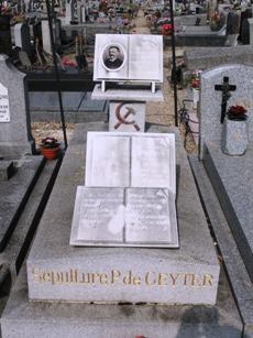 Pierre Degeyters grav på kirkegården i Seine-Saint-Denis
