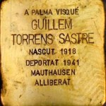 Guillem Torrens Sastre. One of the brass memorial 'stones' dedicated to the residents of Palma who were victims of fascism. Stumbling stones. Photo: Folke Olsson