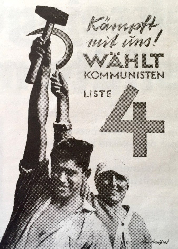 "Photomontage: ""Join the fight, join the Communists"". Election poster, the Communist Party of Germany (KPD), 1930"