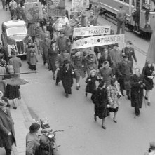 Demonstration mod Franco-diktaturet, 1956