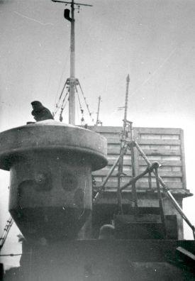 An Bord der M/S Anna Mærsk auf der Rückfahrt von Le Havre nach Dänemark, 1941-1942. Photo: Alfred Runge Erichsen