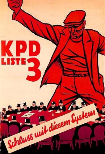 "KPD-plakat, 1932: ""Schluss mit diesem System"" (""Ned med dette system"")"