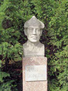 Hans Beimler memorial bust in Rostock