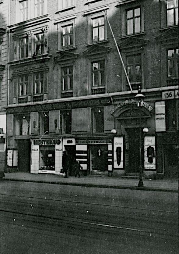 Besættelsen og befrielsen: 9. Frihedsrådet dannes 16. september 1943: Lejligheden på Nørrebrogade 156 i København, hvor Danmarks Frihedsråd holdt deres dannende møde