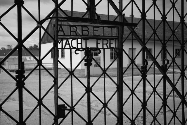 Entrance to Dachau Concentration Camp