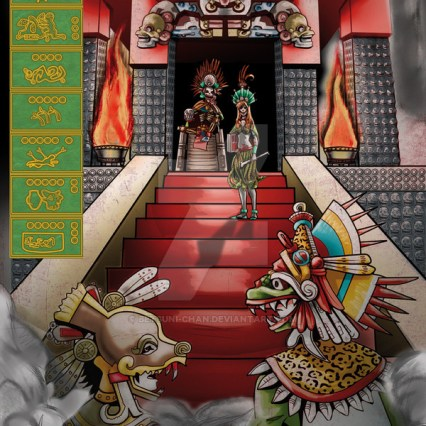 Quetzalcoatl en Mictlán