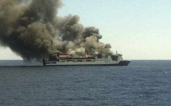20150428 - Passenger Ferry Evacuated due to Fire