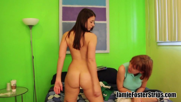 Jamie Foster watching Sarah Gregory strip naked