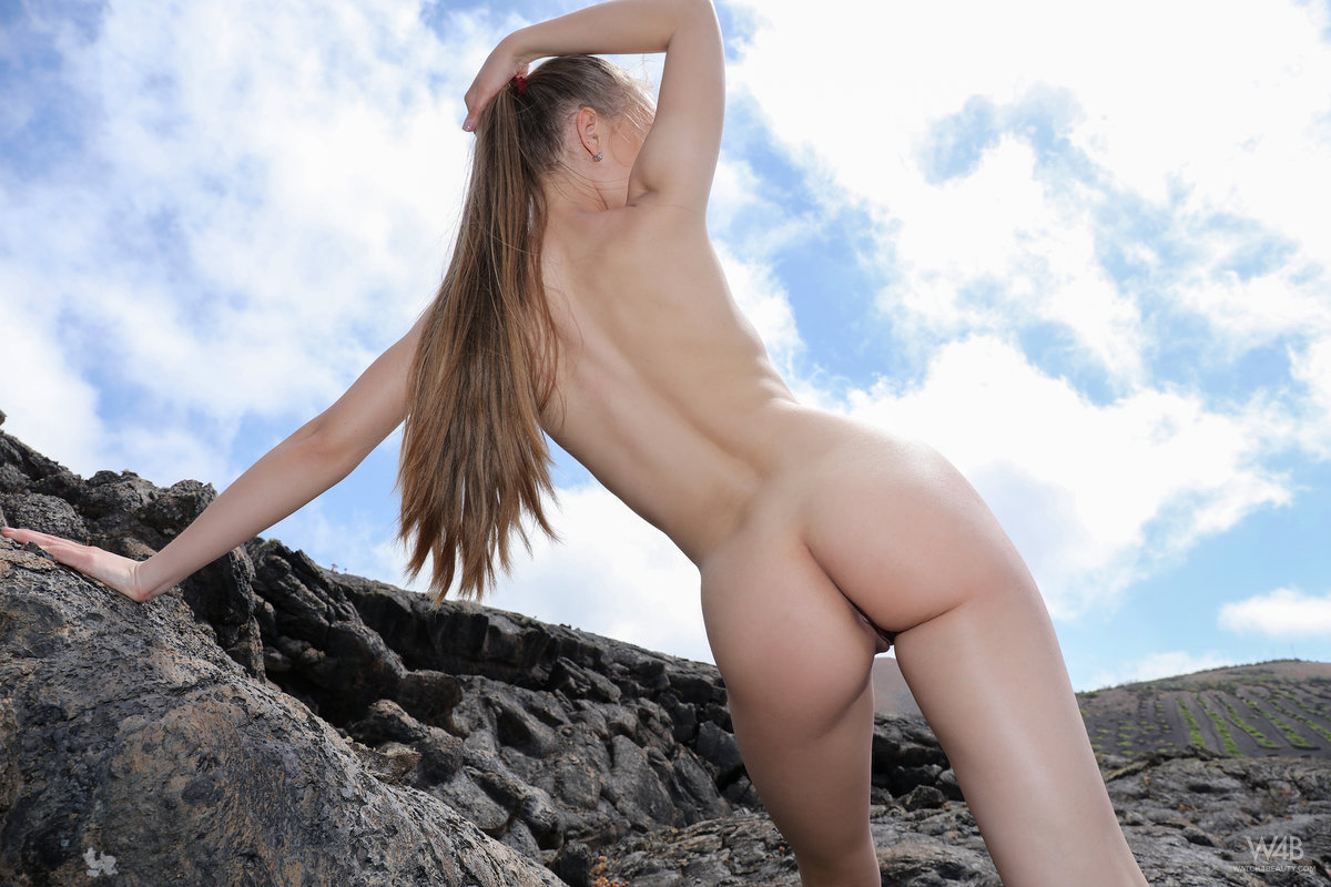 Angel B - naked angel in lava field - Watch 4 Beauty