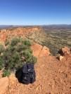 the edge of the climb