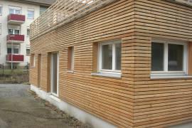Fassadenverkleidung Fenster und Haustüren