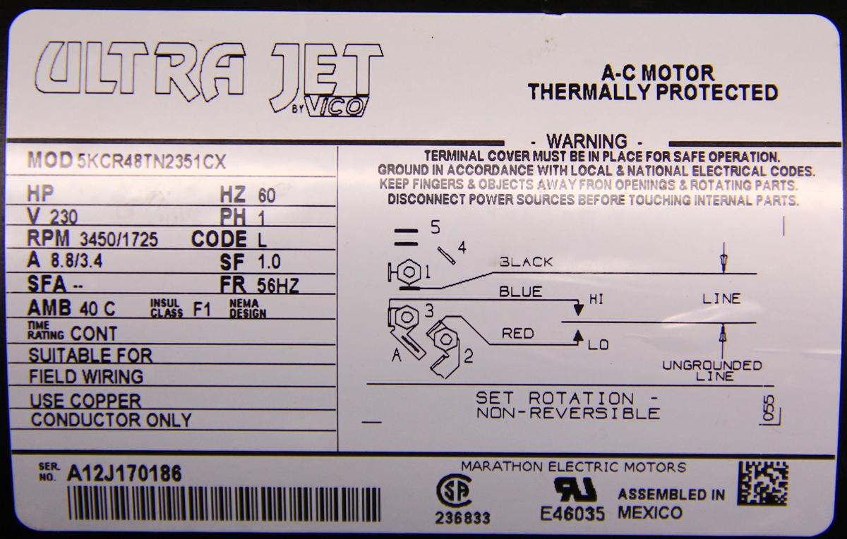 5kcr48tn2351cx GE Motor Mtrge-2351 1111009, 5KCR48TN2351BX