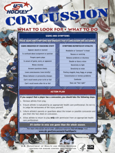 Concussion in Hockey