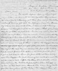 1852 Letter, Page 1