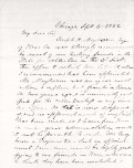 Lyman Trumbull Letter, Page 1