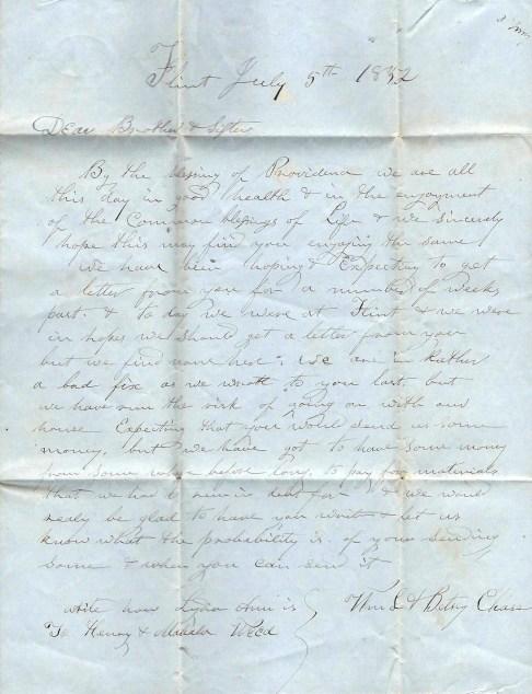 1852 Letter