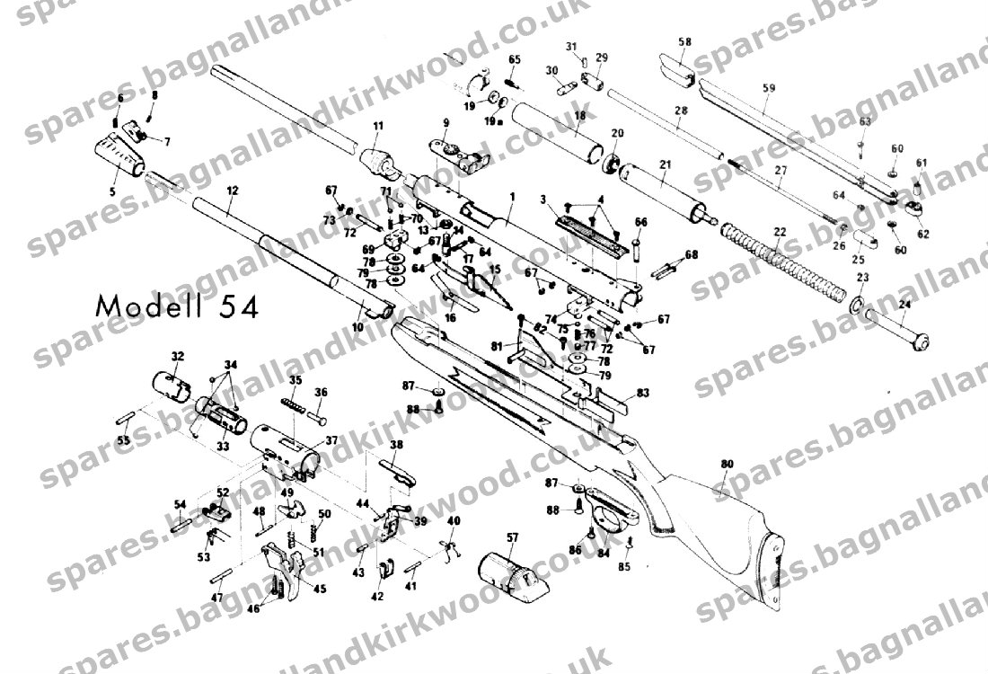 3126 cat engine parts diagram for model a rws diana original mod. 54 - bagnall and kirkwood airgun ... diana model 34 parts diagram