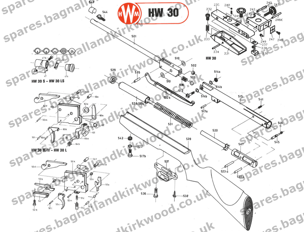 Beeman R7 HW30  Bagnall and Kirkwood Airgun Spares