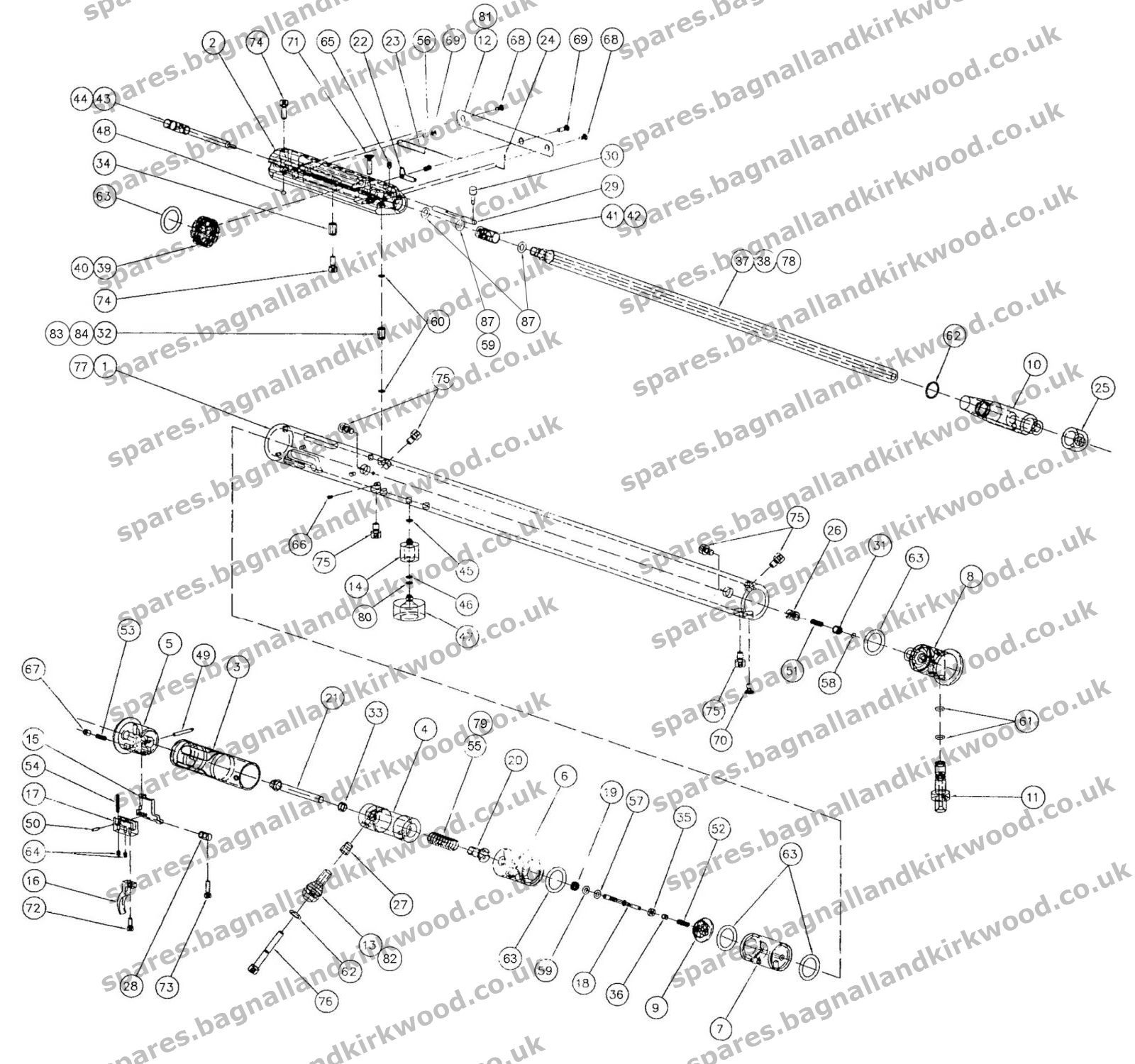 Logun Axsor Spare Parts Bagnall And Kirkwood Airgun Spares Bobcat 753 Wiring Diagram