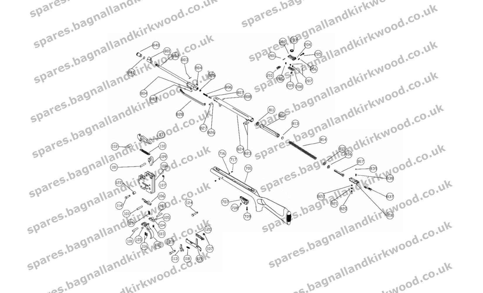 Webley Blackhawk Spare Parts
