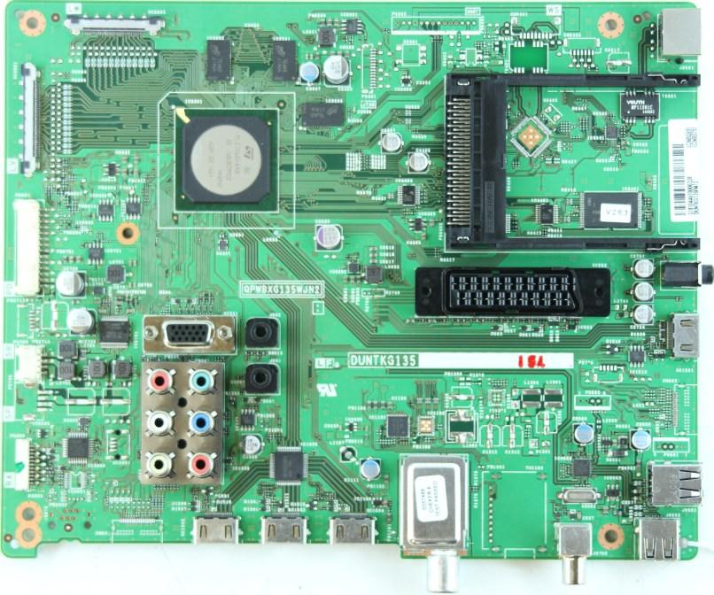 Sharp Lc 60le651k Main Av Qpwbxg135wjn2 Duntkg135fm12
