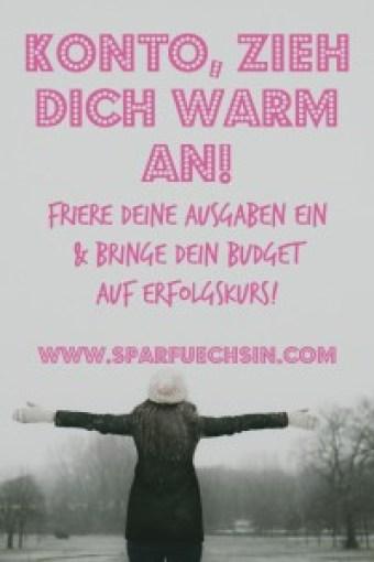 Konto, zieh Dich warm an! Wie ein spending freeze Dein Budget auf Erfolgskurs bringen kann!