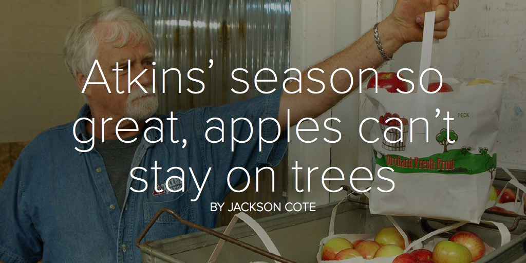 Atkins' season so great, apples can't stay on trees