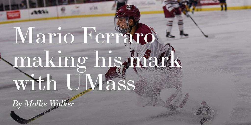 Mario Ferraro making his mark with UMass