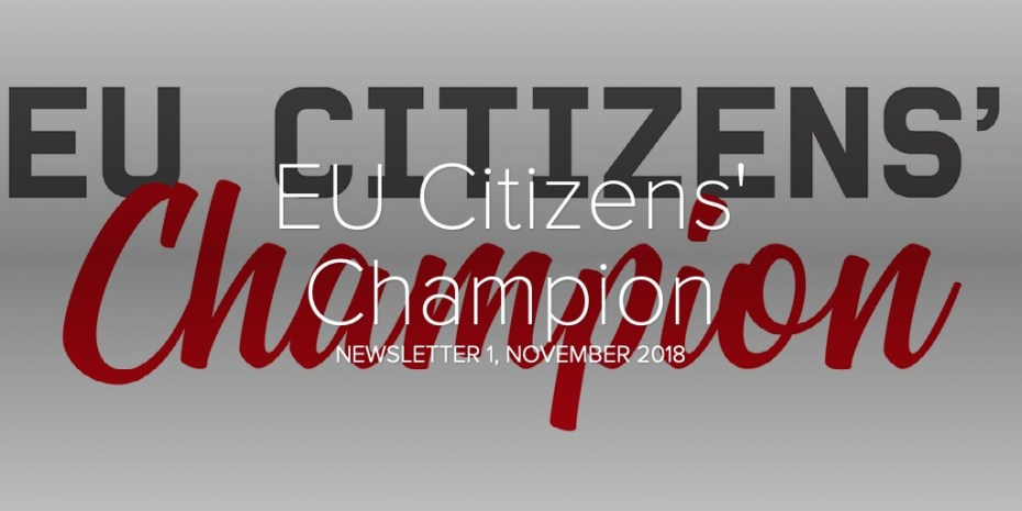 EU Citizens' Champion - Newsletter 1