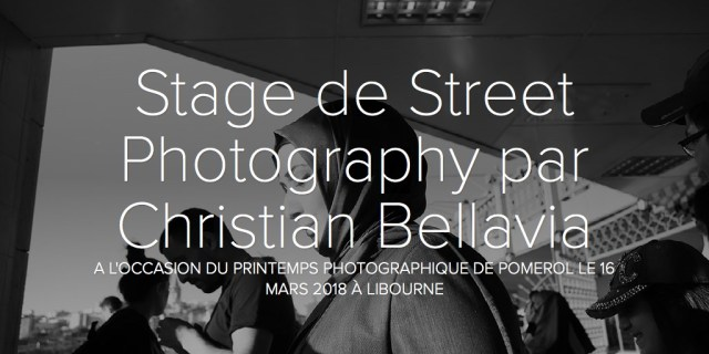 Stage de Street Photography par Christian Bellavia