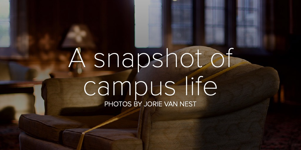 A snapshot of campus life