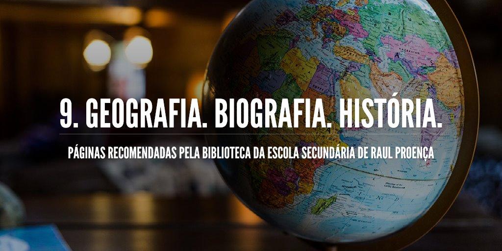 9. Geografia. Biografia. História.