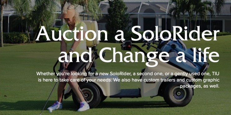Auction a SoloRider, make an impact on a Wounded Vet or Adaptive Golfer