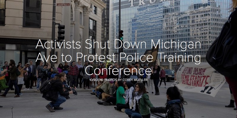 Activists Shut Down Michigan Ave to Protest Police Training Conference