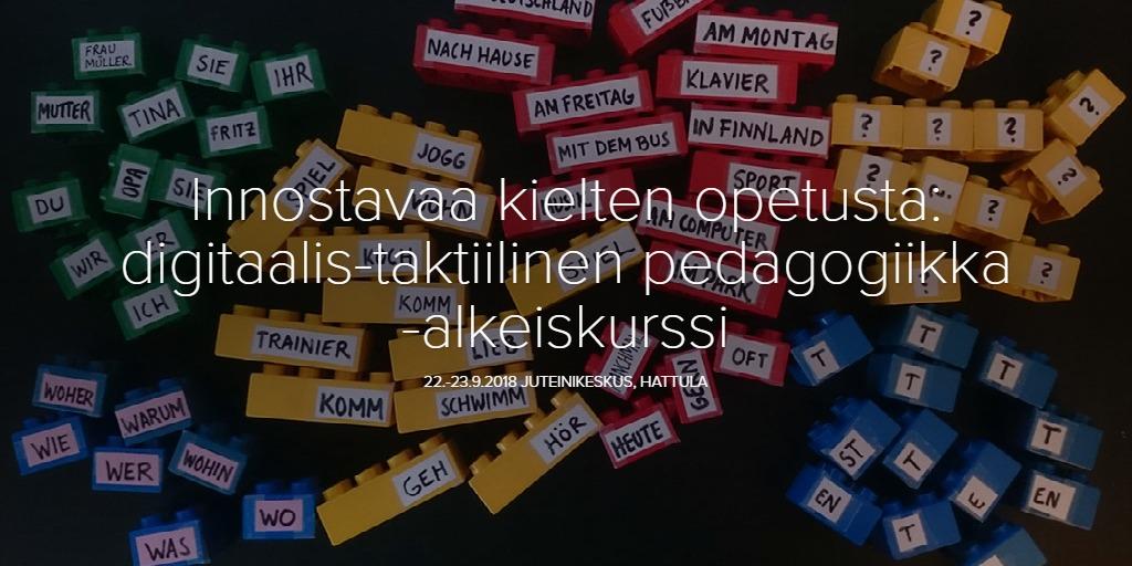 Innostavaa kielten opetusta: digitaalis-taktiilinen pedagogiikka -alkeiskurssi
