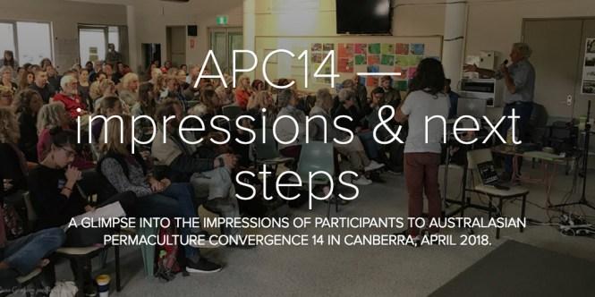 APC14 — impressions & next steps